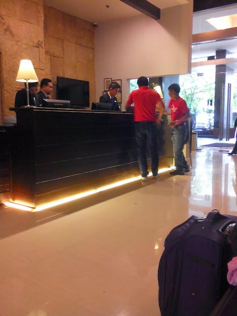 B Hotel lobby