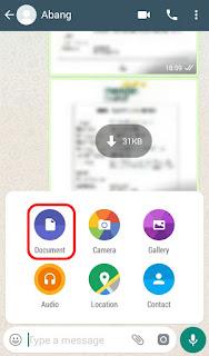 Cara Kirim Foto Asli Tanpa Kompres menggunakan Whatsapp