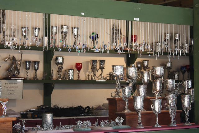 Pewter goblets made in USA at Bristol Renaissance Faire