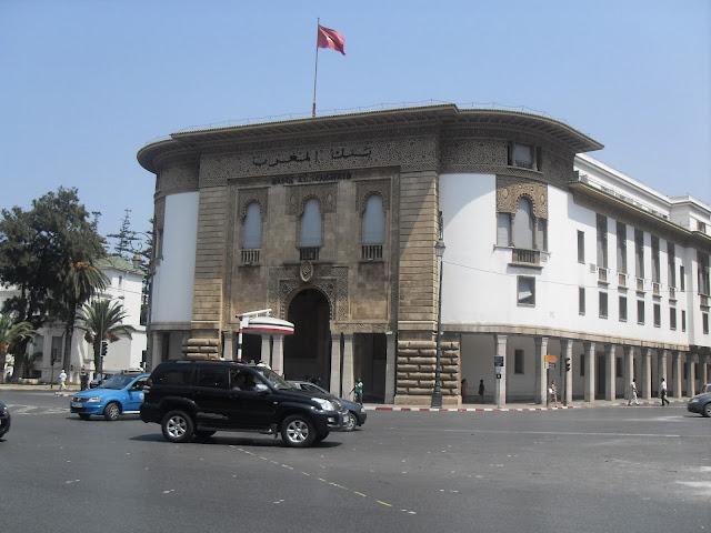 Edificios por el centro de Rabat