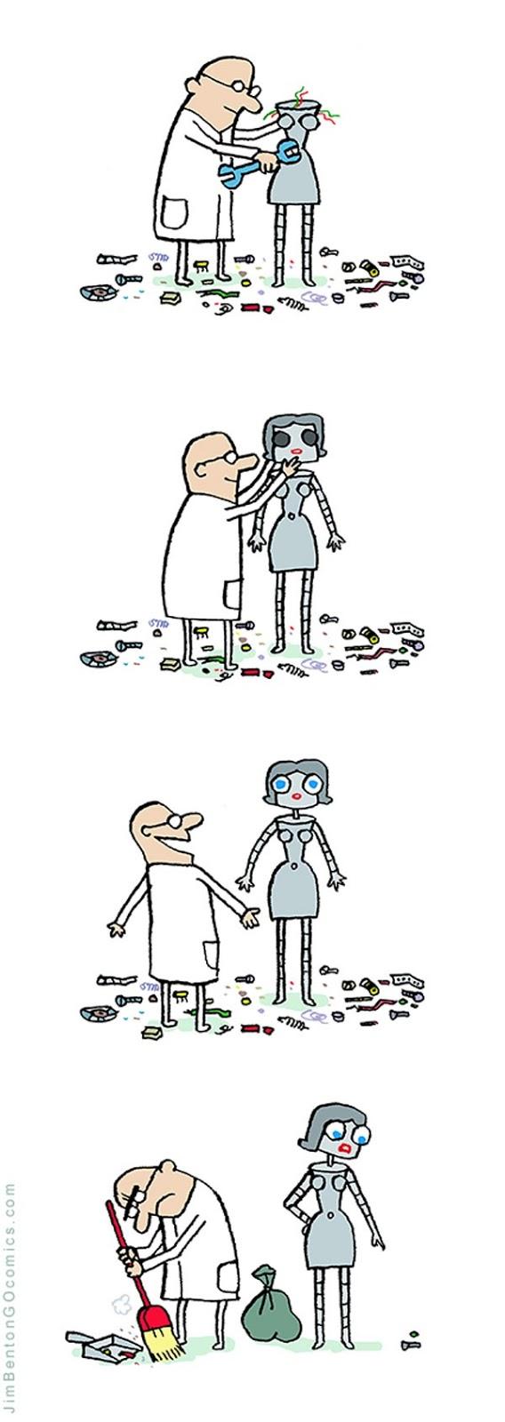 Meme de humor sobre robots