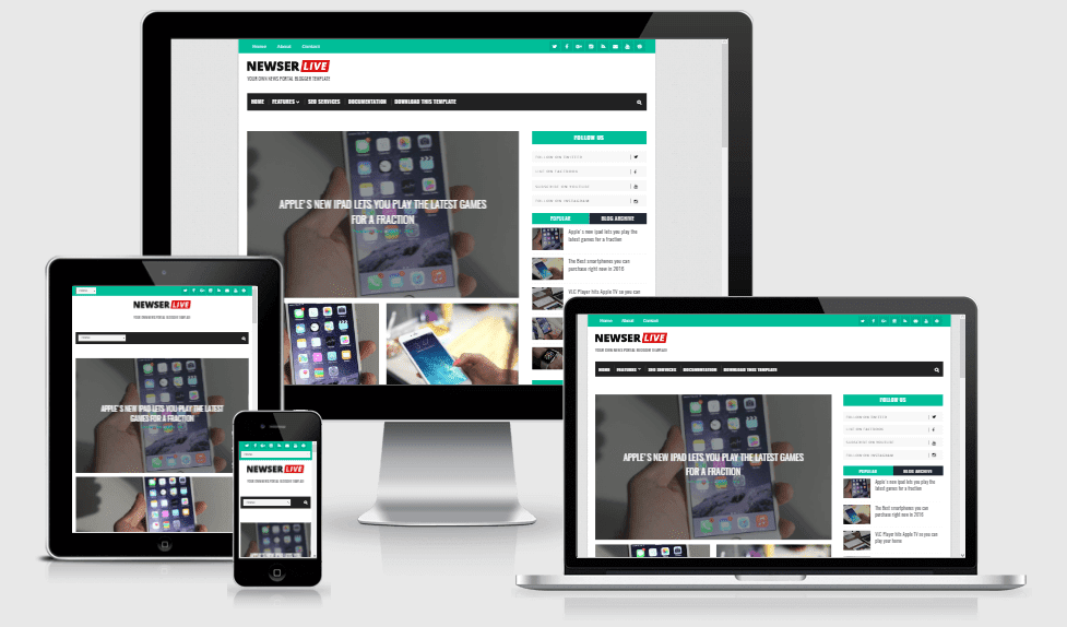 Newser - Responsive News/Magazine Blogger Theme