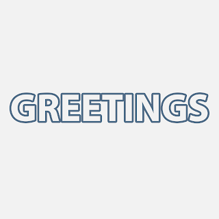 Greetings with background PNG