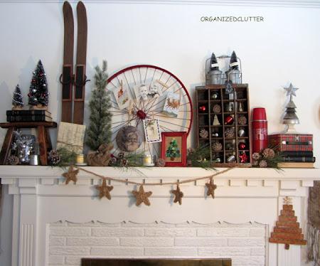 Rustic Christmas Mantel.