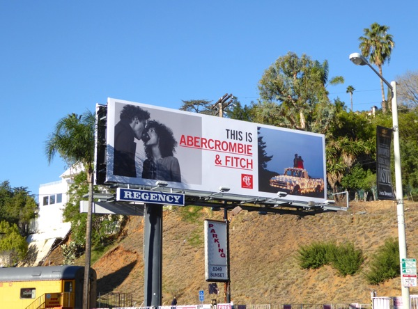 This is Abercrombie Fitch 2016 billboard