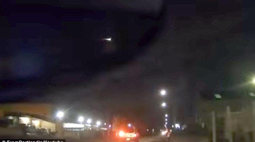 ΗΠΑ: Μυστηριώδης πύρινη σφαίρα στον ουρανό του Πόρτλαντ