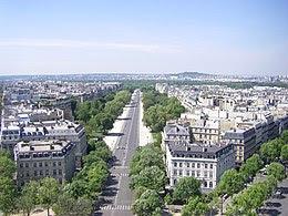 Avenue Foch vue de la place de l'Etoile