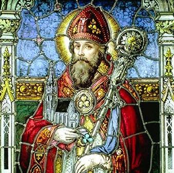 Imagen de San Patricio en una vidriera