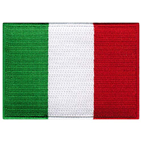 Italy Flag Embroidered Patch Italian Iron-On National Emblem 2019