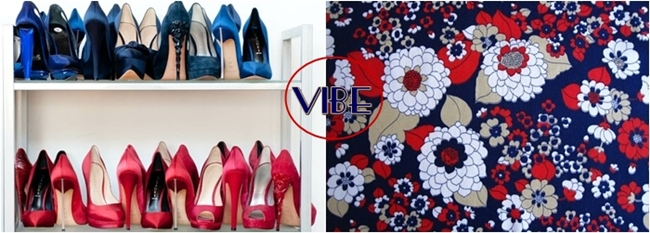 collection of blue and red high heels