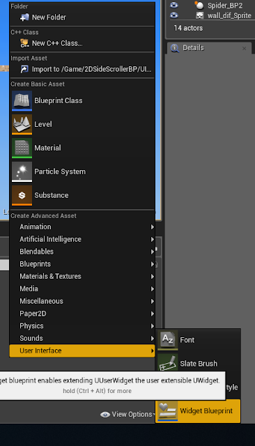 Create Widget Blueprint