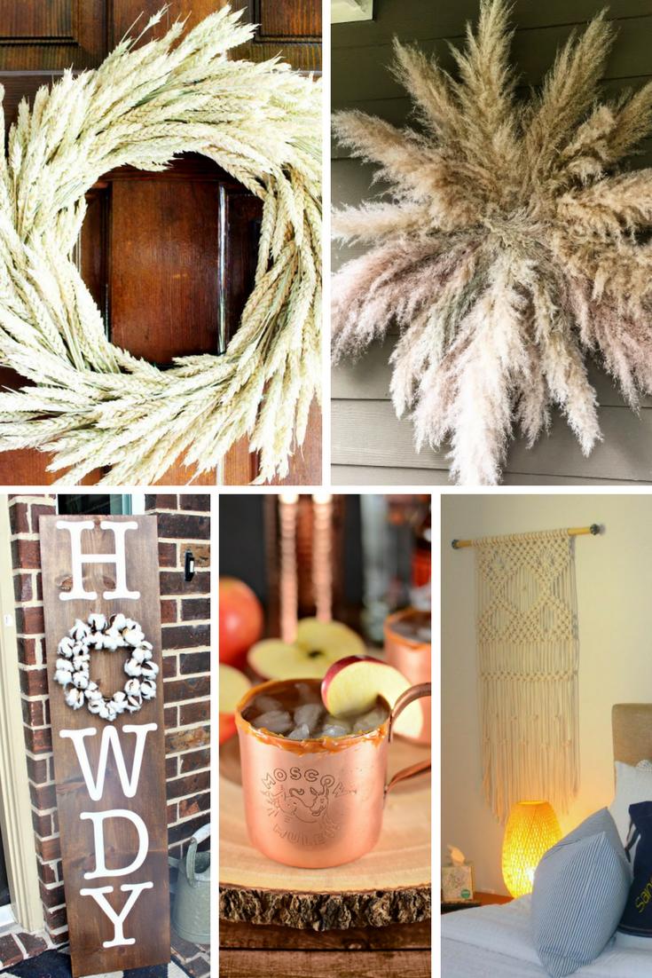 moscow mule, macrame, fall wreath, juju wreath