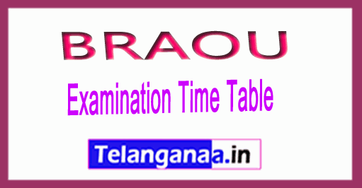 BRAOU B.Ed 1st year Annual Exam Dates Time Table