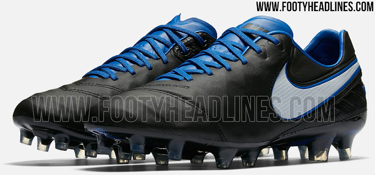check out 14047 52d58 Black / Blue Nike Tiempo Legend VI 2017 Boots Released ...