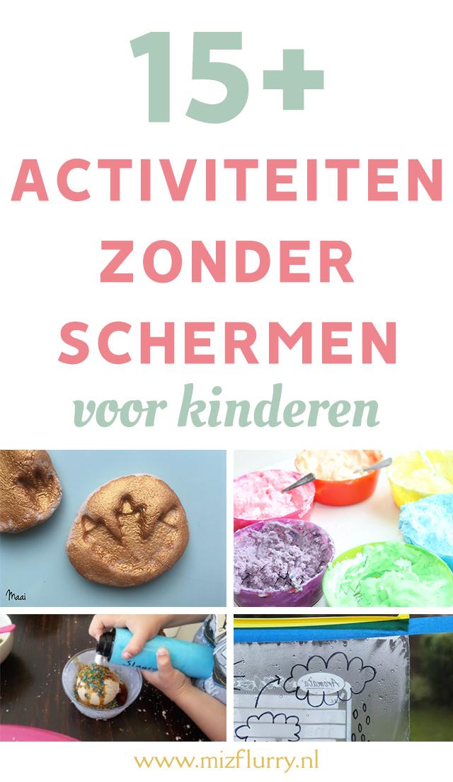 binnen-activiteiten voor kinderen zonder schermen