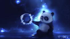 Bear with Clock & Audio Visualizer [Wallpaper Engine Audio Responsive]