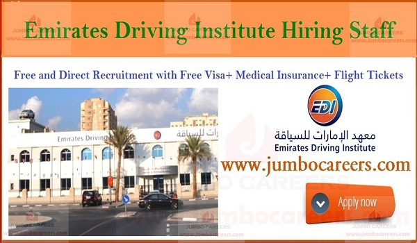 Emirates Driving Institute Jobs Dubai Sharjah 2019, how to apply for emirates driving institute jobs,