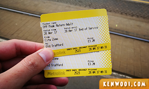 manchester metrolink tickets