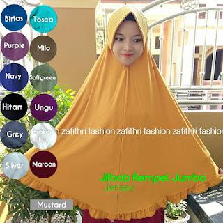 jilbab syar'i rempel jumbo bahan jersey