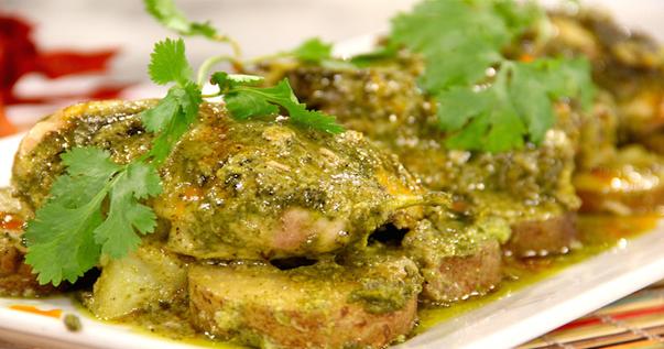 Receta de pollo al horno con salsa de lim n y cilantro recetas f ciles - Salsa de pollo al limon ...