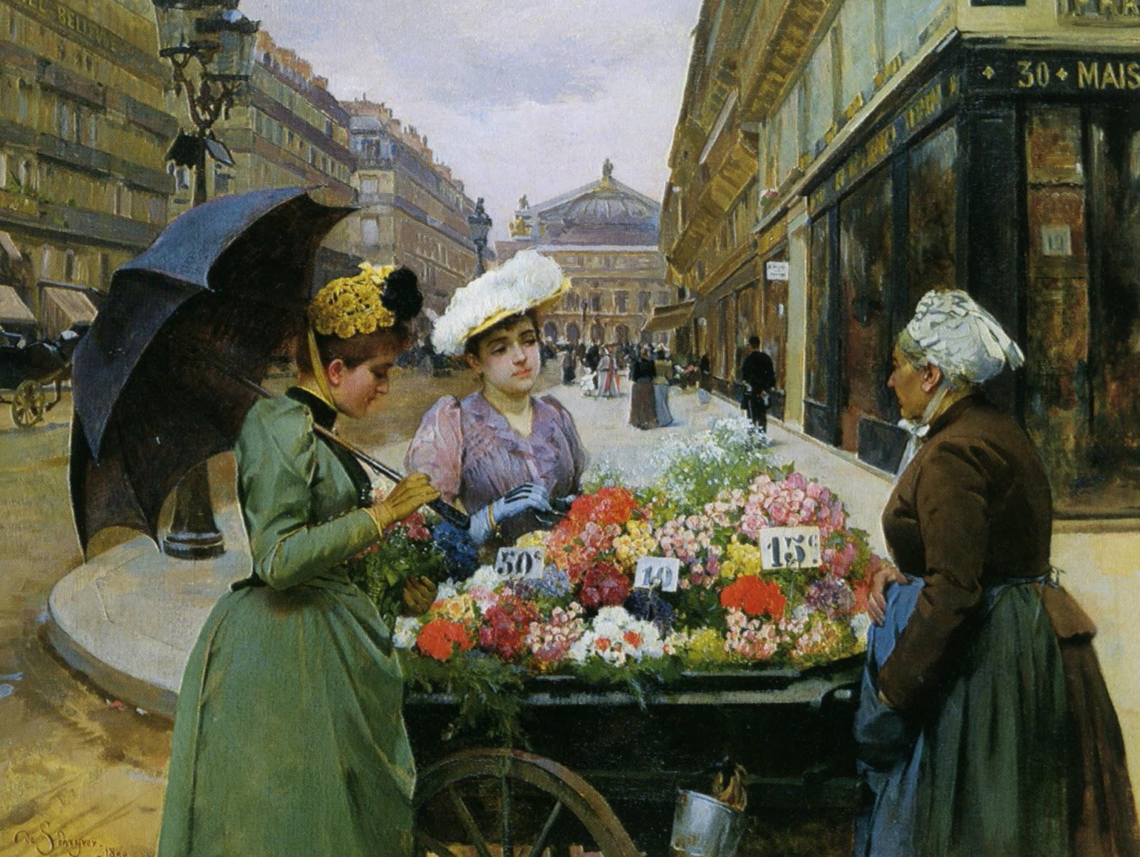 Louis de Schryver ~ A Vendedora de Flores