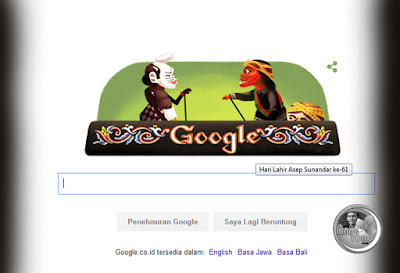Dalang Asep Sunandar Terpilih Jadi Google Doodle Hari Ini