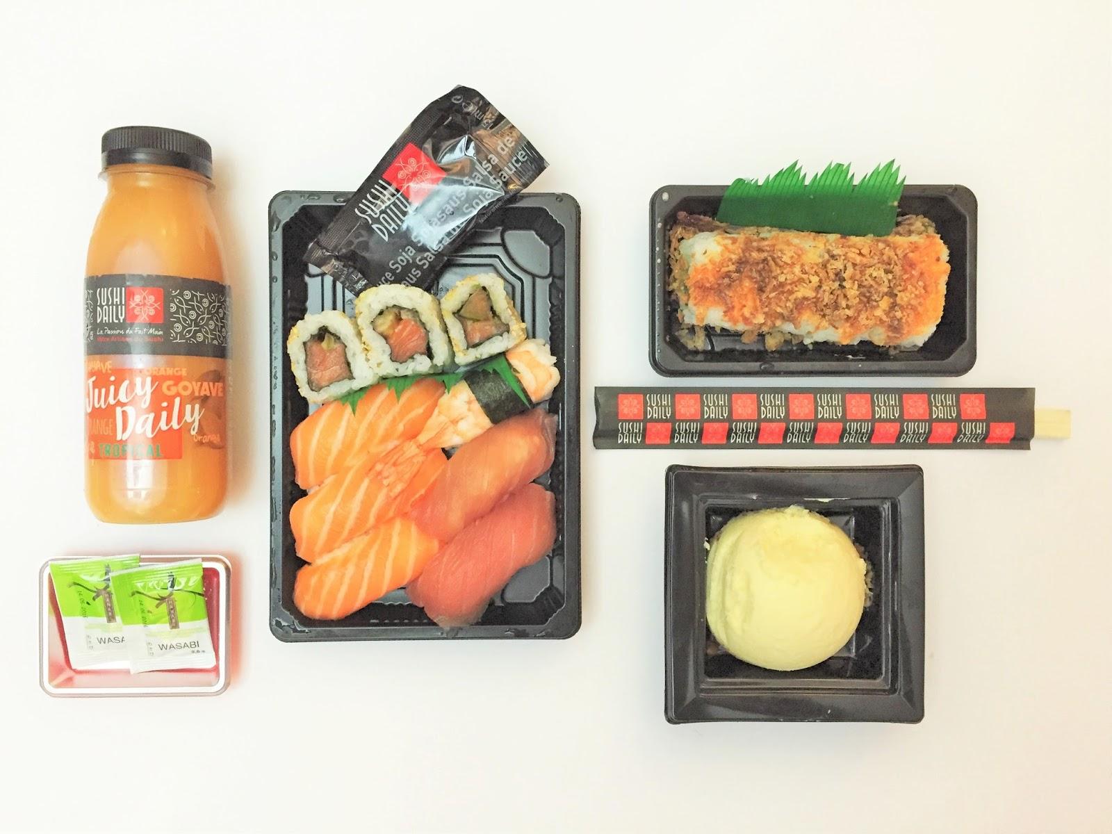 sushi daily maki dayli gare train montparnasse paris sncf voyage encas snack nouveau kiosque jap japonais gastronomie roll cheesecake yuzu food fastfood