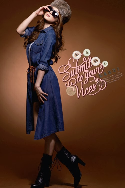 denim dress long sleeve murah malaysia