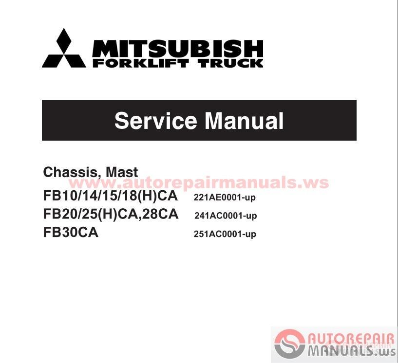 Free Auto Repair Manual : Mitsubishi Forklift Truck