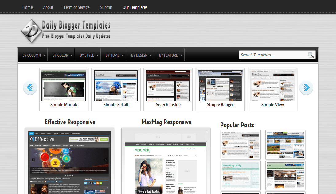 Daily Blogger Templates