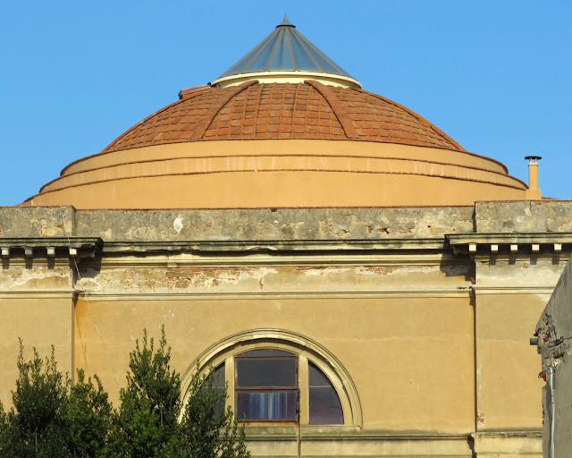 The dome of the church of Saint George, Via Verdi, Livorno