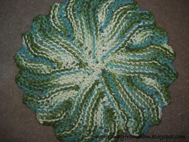 Knitting Project #3/ Round Knit Dishcloth
