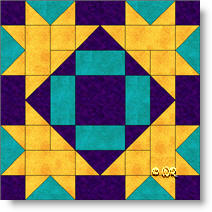 'Clay's Choice II' quilt block image © W. Russell, patchworksquare.com
