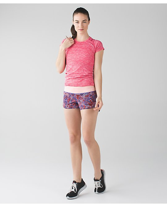 lululemon checker-blooms-multi speed-shorts