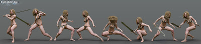 The Legend Sword - Fighting Poses for Genesis 3 and 8 Female