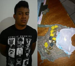 Homem é preso por tráfico de drogas em Buriti.