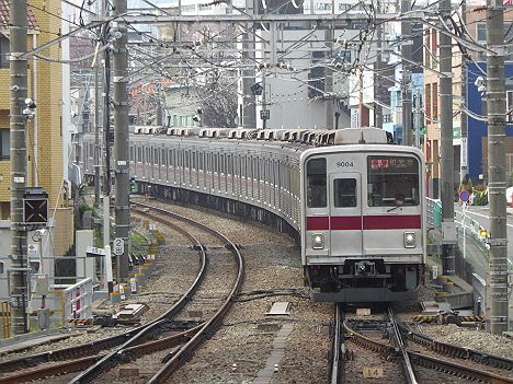 東急東横線 副都心線直通 通勤特急 和光市行き3 東武9000系