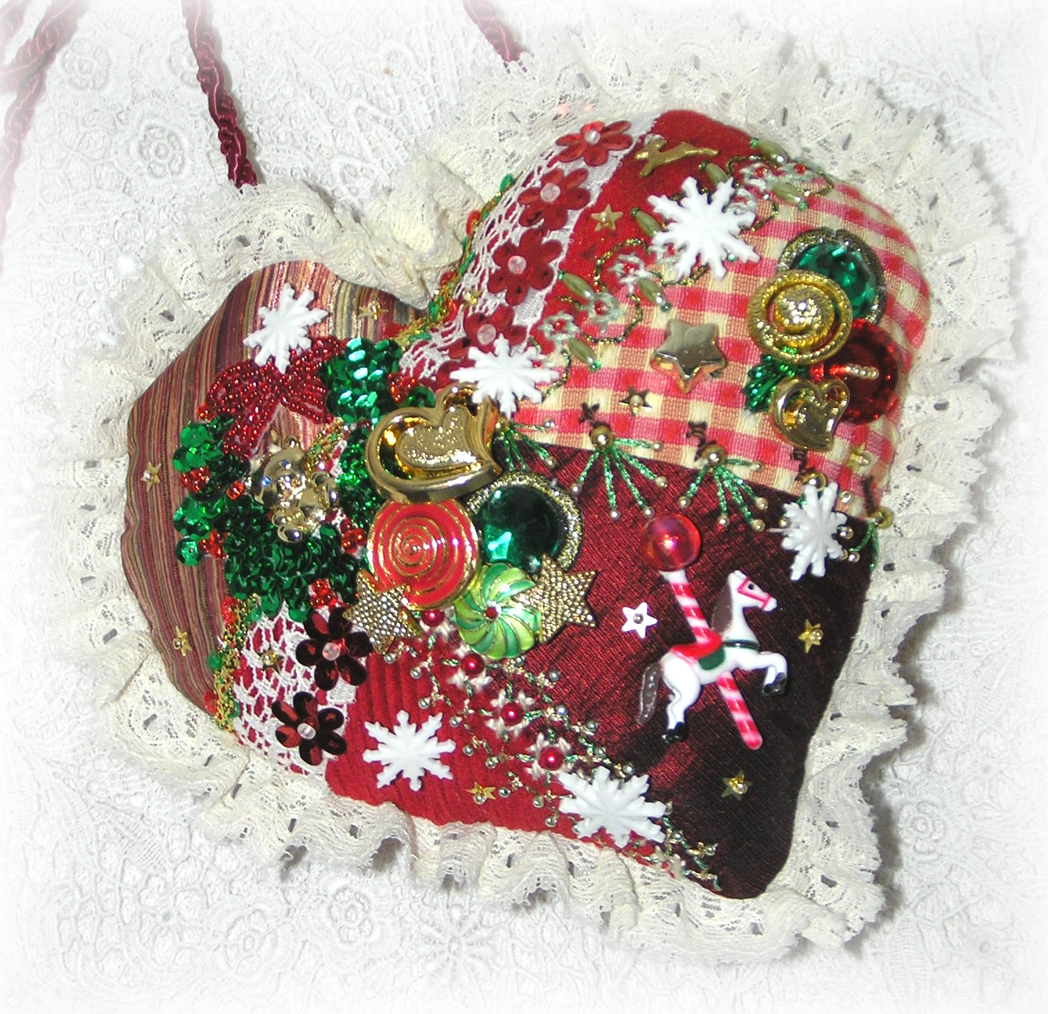 Quilted Christmas Ornaments.Kitty And Me Designs Crazy Quilt Christmas Ornaments