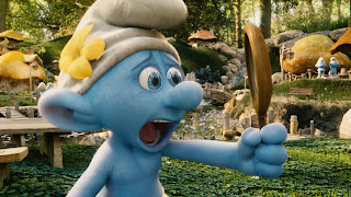 screaming smurf The Smurfs 2011 animatedfilmreviews.filminspector.com