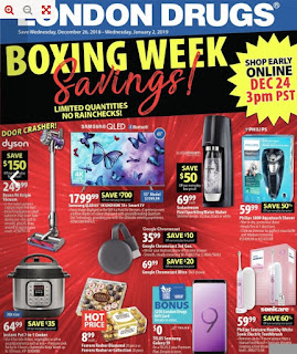 London Drugs Flyer Weekly Boxing Week Savings Valid Dec 26 – Jan 2, 2018