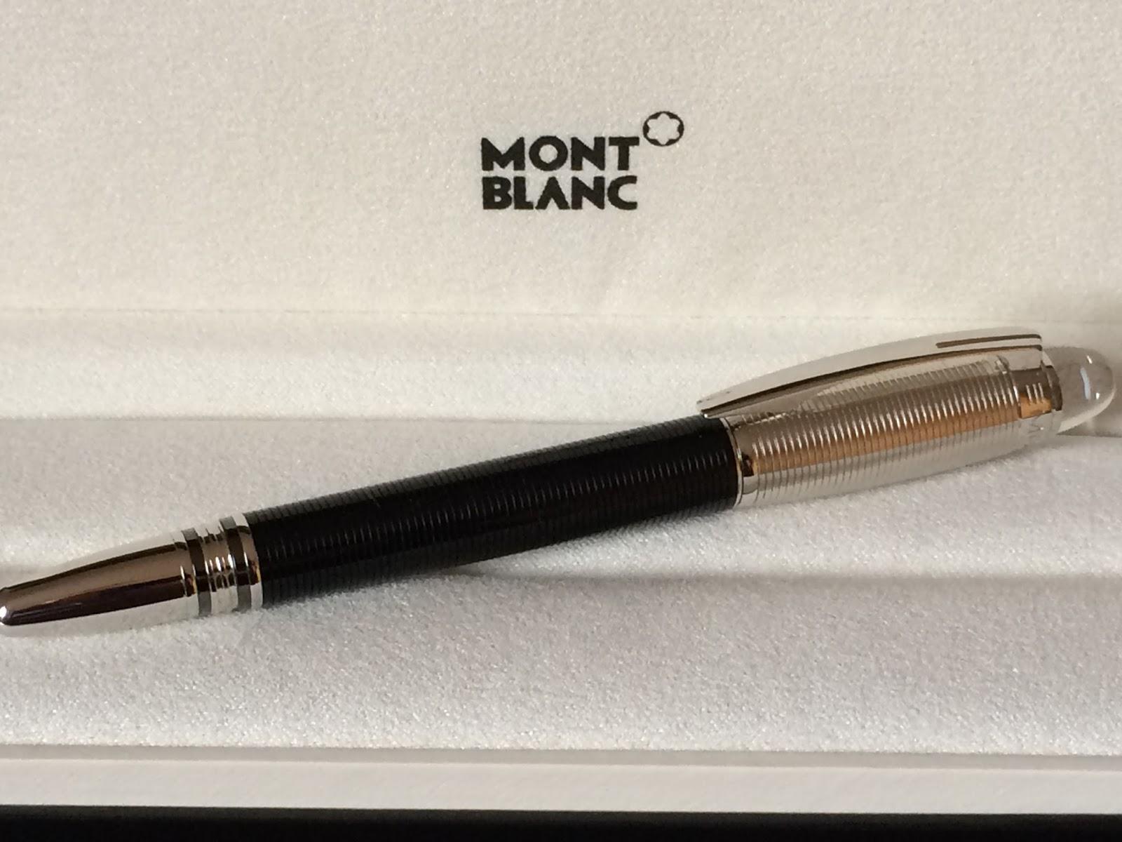 d6f3933bc0a Duas características marcantes da série Starwalker são o clip e a estrela  flutuante que diferenciam essas canetas das linhas mais clássicas da  Montblanc.