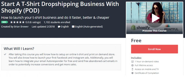 100 Free Start A T Shirt Dropshipping Business With