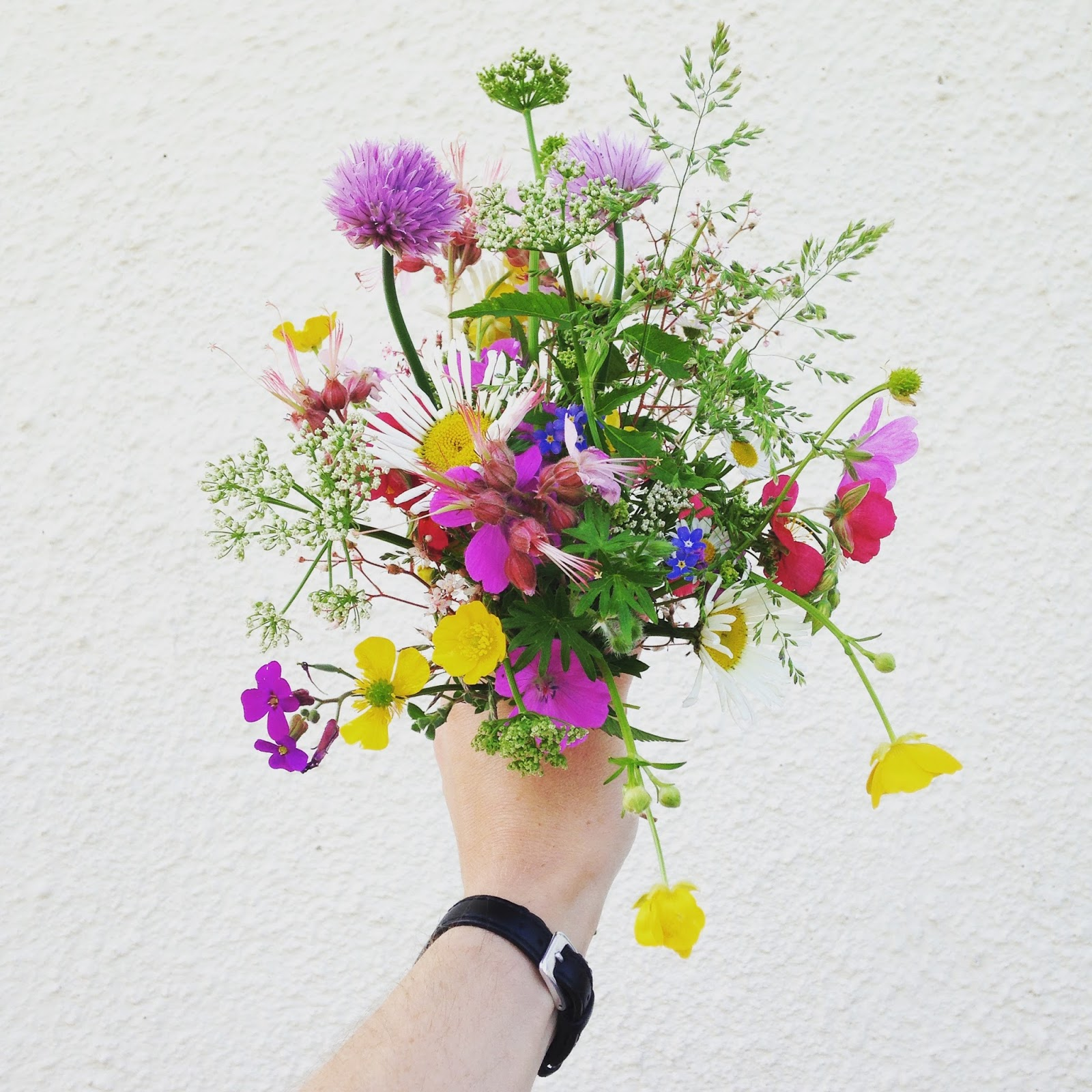 freshly picked flowers