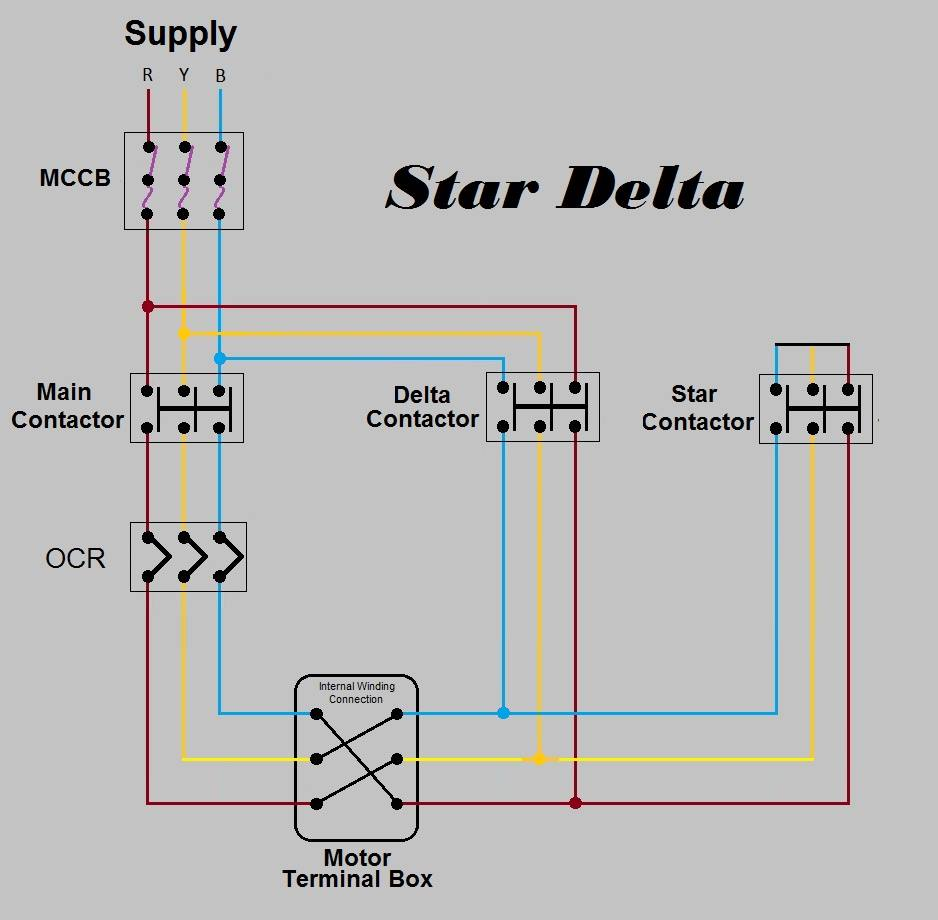 Star Delta Power Schematic Diagram - Electrical ...