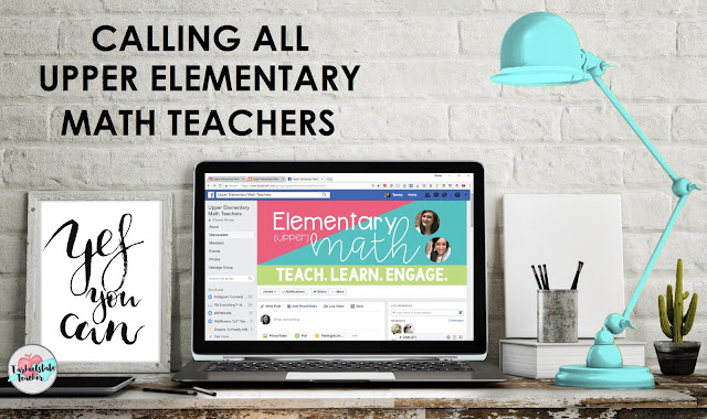 """The Upper Elementary Math Teachers  Facebook group is the perfect group for 3rd grade, 4th grade, and 5th grade teachers who want to """"be the math teacher you always wish you had,"""" to learn from a community of teachers who are passionate about improving their math instruction and passionate about sharing their experiences, ideas, and insights about teaching math to upper elementary students. Come join us!"""