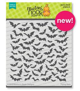 Flying Bats Stencil ©2018 Newtons Nook Designs