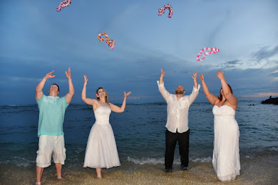 Throwing Flower Leis