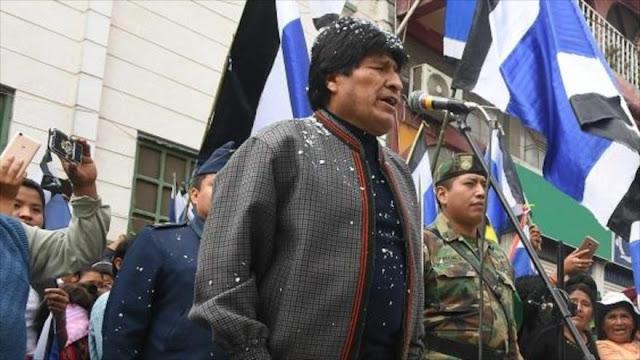 Morales rechaza acusasiones de derecha y las vincula a EEUU