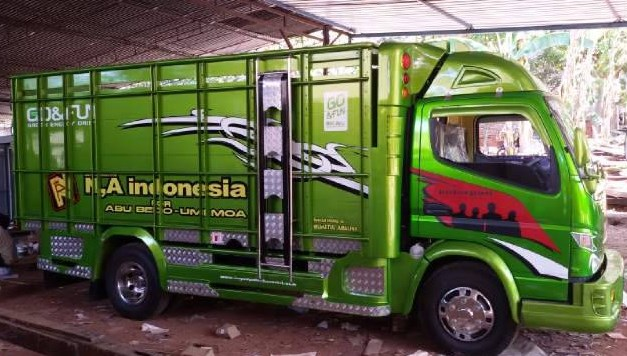 modifikasi interior truk canter