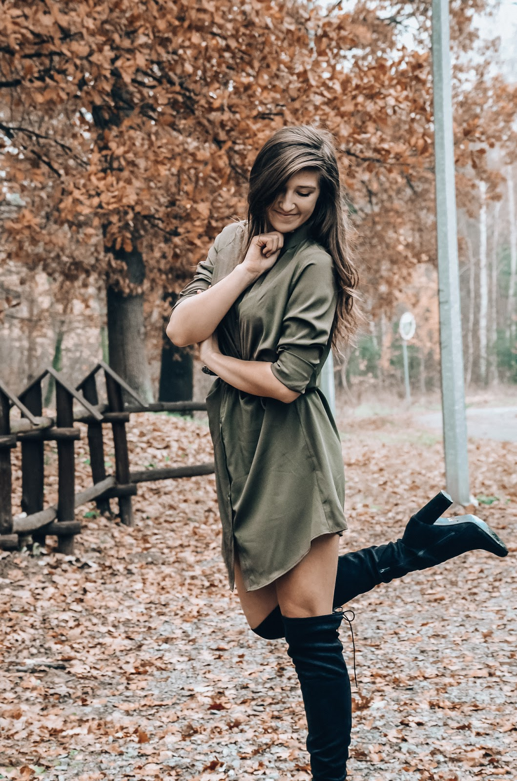 KHAKI SHIRT DRESS || NAKD.COM ♥
